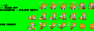 Sonic 3 2x - Tails 2x BETA( 2x bigger sprites) by triplesonicX