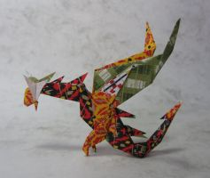 Origami Dragon by Nguyen by Himmapaan