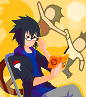 Sasuke's Reading Glasses by kaitah