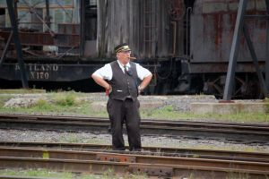 Conductor at Steamtown by jhg162