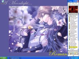 Moonlight Romance Desktop by ReikaiRose61