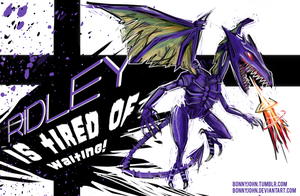 Ridley for Smash Bros. Wii U! (NintyFans Contest) by BonnyJohn