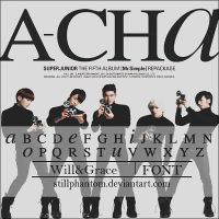 Super junior a.cha   Font by StillPhantom