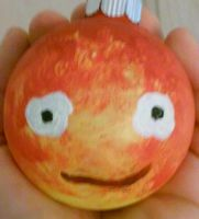 Calcifer Ornament by Ze-ninja