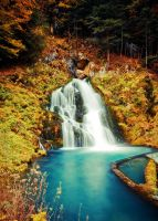 Oberbach, Switzerland - Waterfall by Katerianer