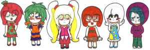 Some of the Secondary Girl in ShootingStar PreCure by V-P-aurore-star