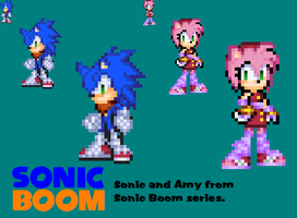 SONIC BOOM- Sonic and Amy Sprite by o-CamTroArtist-o