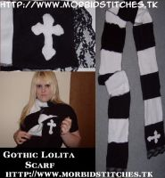 Gothic Lolita Scarf by morbid-stitches