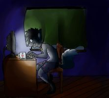 ..:Co:..Computer Addict by blueberry-tail