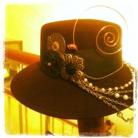 Steampunked Hat by NycterisA