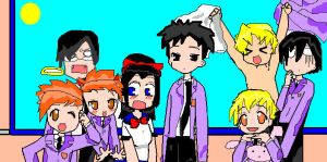 Ouran Host Club Party by MoniMichiandSasukiki