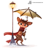 Daily Painting #945. Mr. Tumnus (FA) by Cryptid-Creations