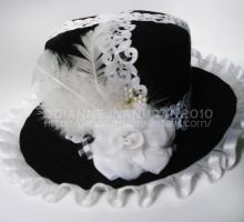 ShiroxKuro Lolita Hat by yAnchAm