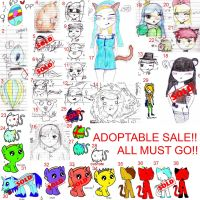 ADOPTABLE SALE, EVERYTHING MUST GO! by MissBlossomUtonium