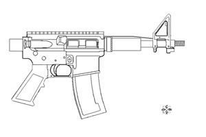 AR-15 printed version base by 96blackarrow