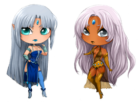 :COM: Topaze and Saphire by Doria-Plume
