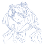 Sailor Moon Sketch by Litteria