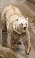 Grizzly/Polar Bear Hybrid by Brainmatters