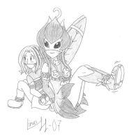 Mimi and Lillymon... again by Limpurtikles