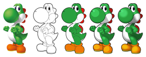 Yoshi Vector Drawing by Juliannb4
