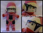 Pokemon Alpha/Omega: Maxie Plush (10'') by StitchedAlchemy