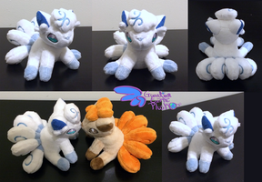 Pokemon Alola Vulpix Plush 6'' by GuardianEarthPlush