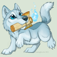Wibble ghosty shaman wuff by CunningFox
