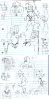LONGASS DOODLES PAGE by DrXoxo