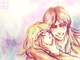Shingeki no Kyojin: Ymir and Christa 2 by scottwuming