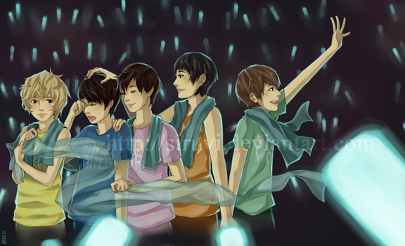 shinee - pearlescent blue by siruvi