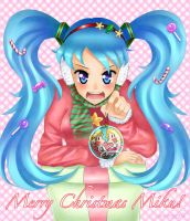 Merry Christmas Miku by jellytaro