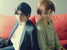 Eren Jaeger Levi Rivaille by Miko-Cosplay-fr