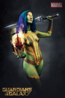 Body Painting - Gamora by Kurara-Himura