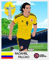 Radamel Falcao Vector by SemihAydogdu