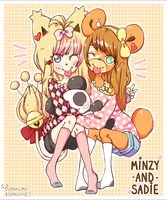 PKMC Collaboration w/ Sangchu: Minzy and Sadie by LumaKuma