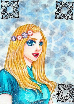 ACEO 073 - Blonde by AgloAros