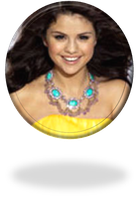 Selena Gomez Button PNG by NatyJonasProductions