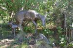 Iron Statues of hind and fawns by A1Z2E3R