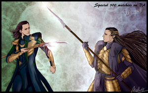 Special 500 watchers : Loki vs. Gil-Galad by MellorianJ