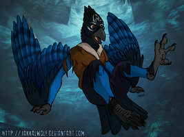 LSC: Human to Steller's Jay Pic 2 of 2 by JakkalWolf