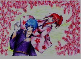 Erza and Jellal by NecroCity1