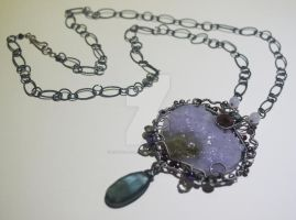 Indentation Necklace by CrysallisCreations