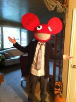 My Deadmau5 Costume by trickytreater