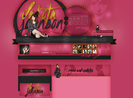 Layout ft. Dakota Johnson by PixxLussy