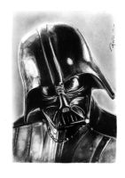 Darth Vader - Charcoal by reniervivas666