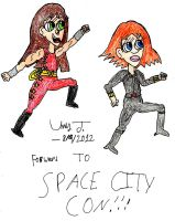 Road To Space City Con by Urvy1A
