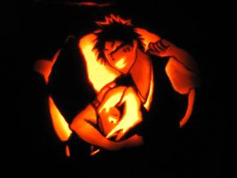 Bleach Pumpkin by Aquapocalypse