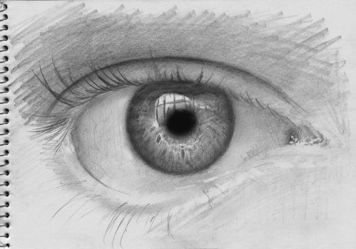 Sketch of Eye by NorthumbrianArtist