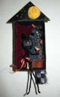 Assemblage: Halloween Kitty by bugatha1