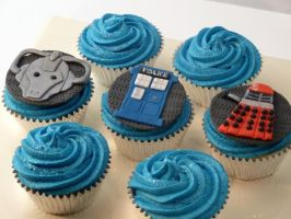 Dr. Who cupcakes by Lashes-and-Glitter